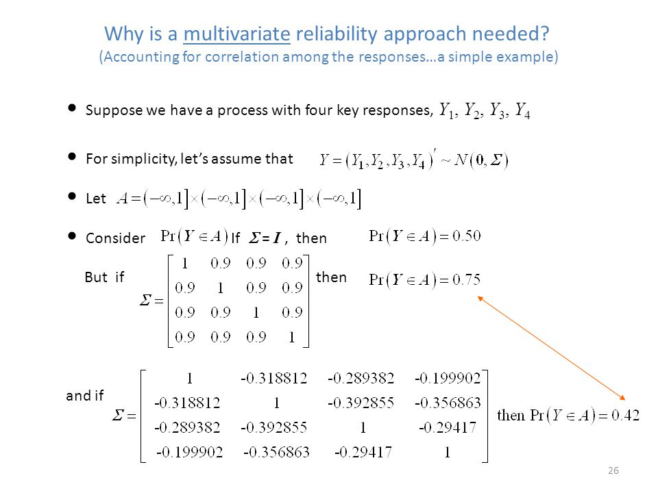 Why is a multivariate reliability approach needed