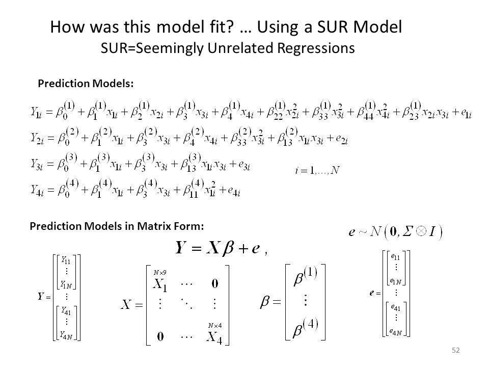 SUR=Seemingly Unrelated Regressions