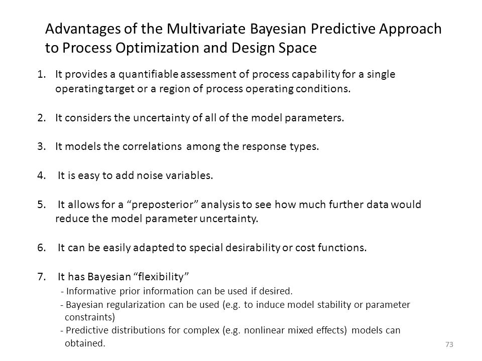 Advantages of the Multivariate Bayesian Predictive Approach to Process Optimization and Design Space