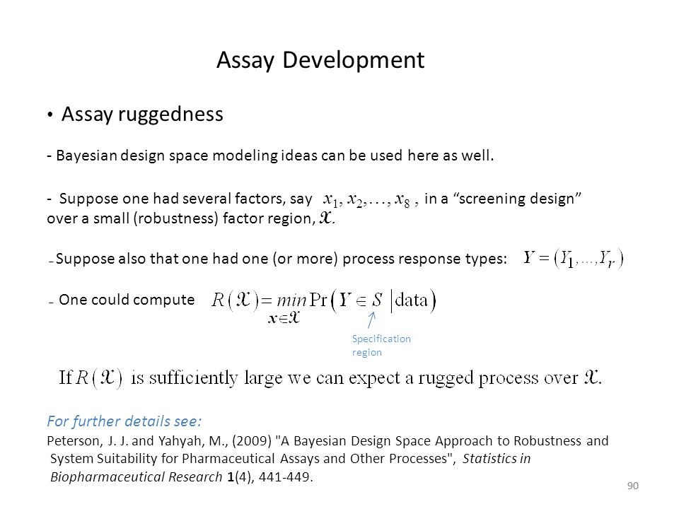 Assay Development Assay ruggedness