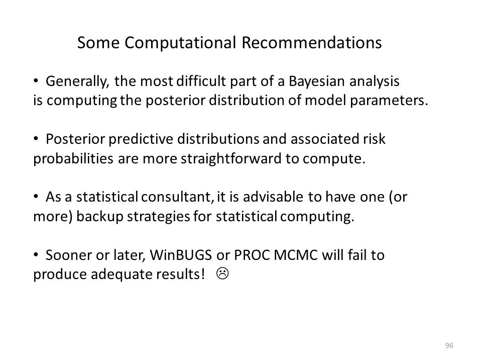 Some Computational Recommendations