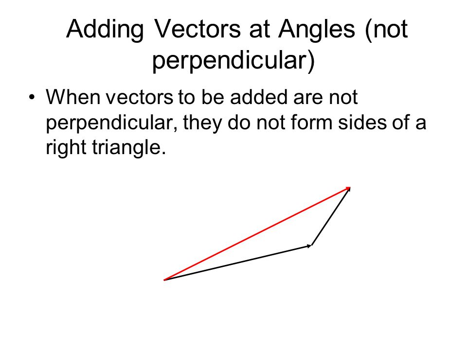 Adding Vectors at Angles (not perpendicular)