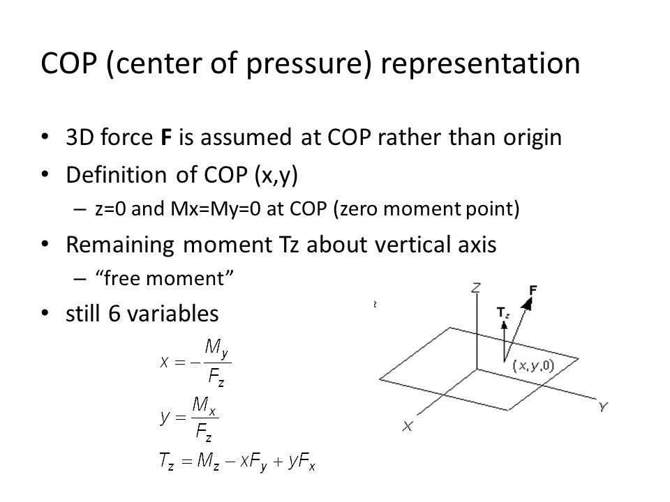 COP (center of pressure) representation