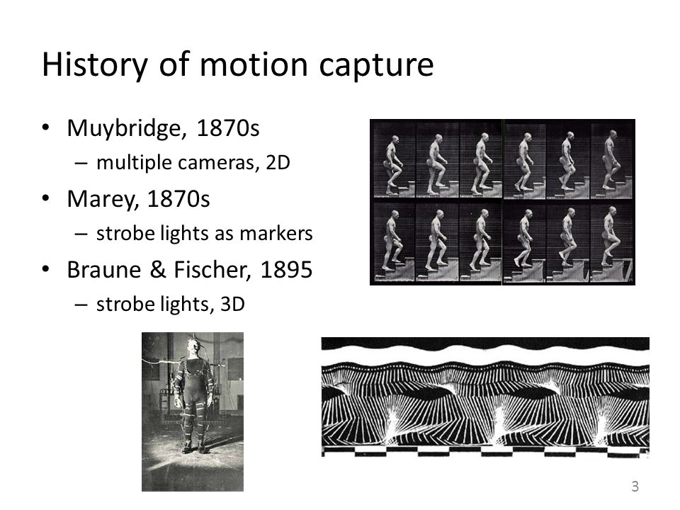 History of motion capture