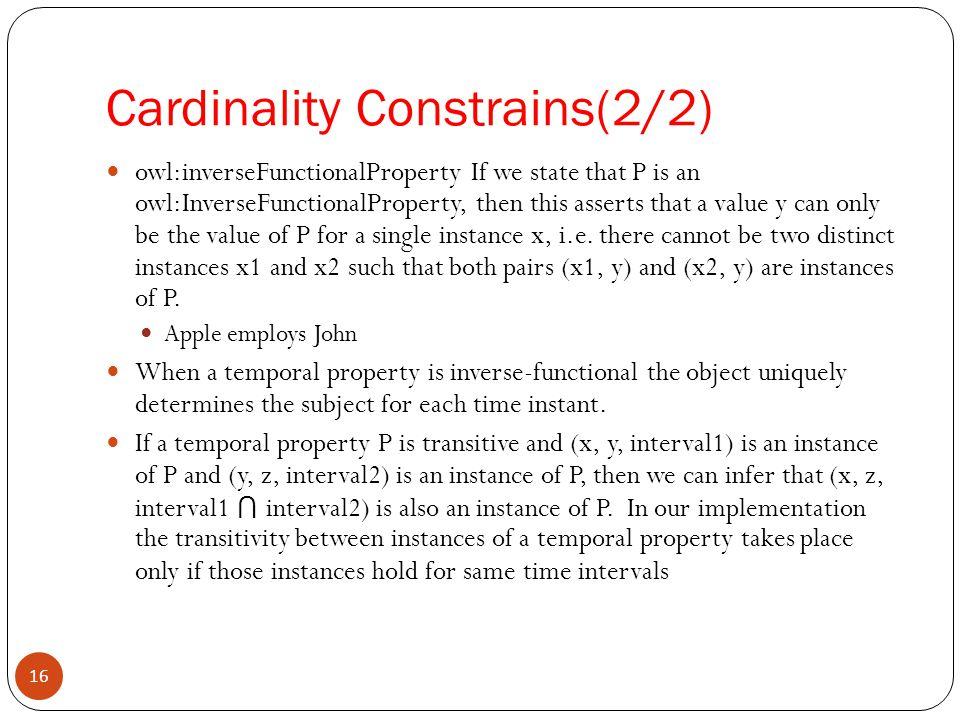Cardinality Constrains(2/2)