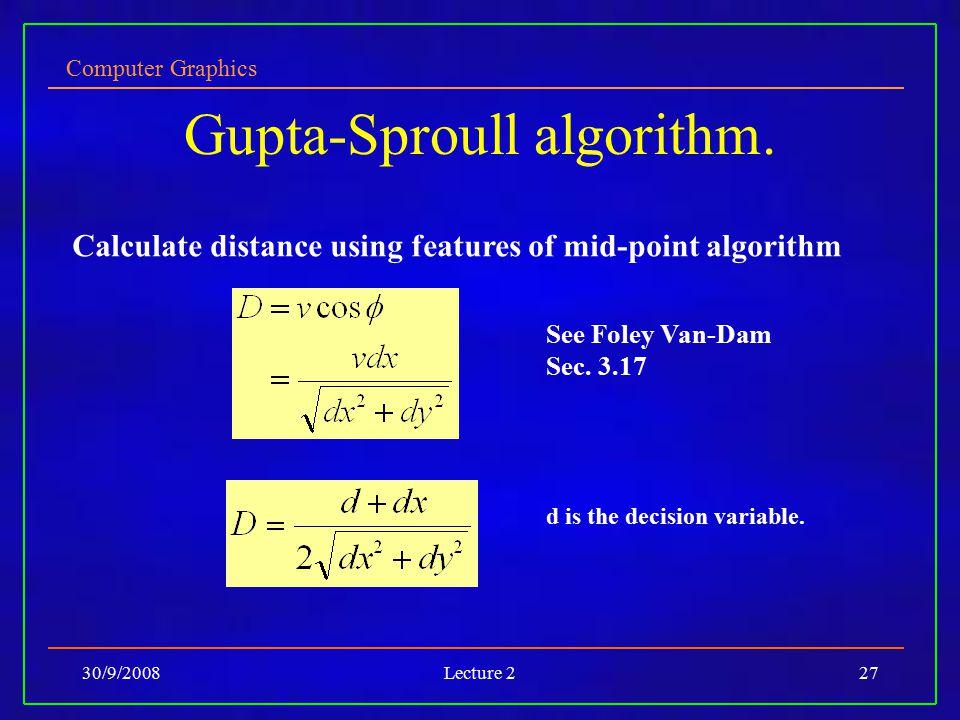 Gupta-Sproull algorithm.