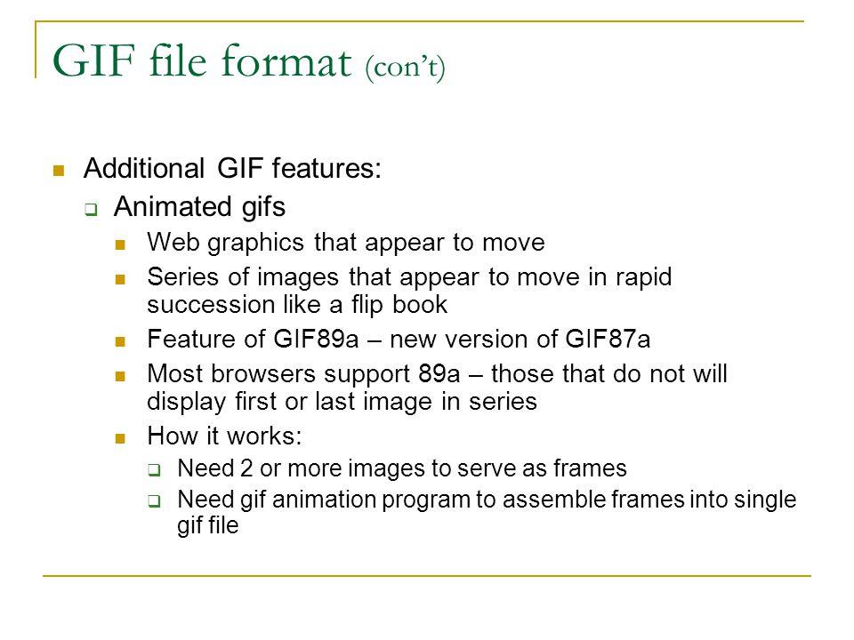 GIF file format (con't)