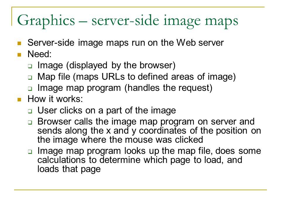 Graphics – server-side image maps