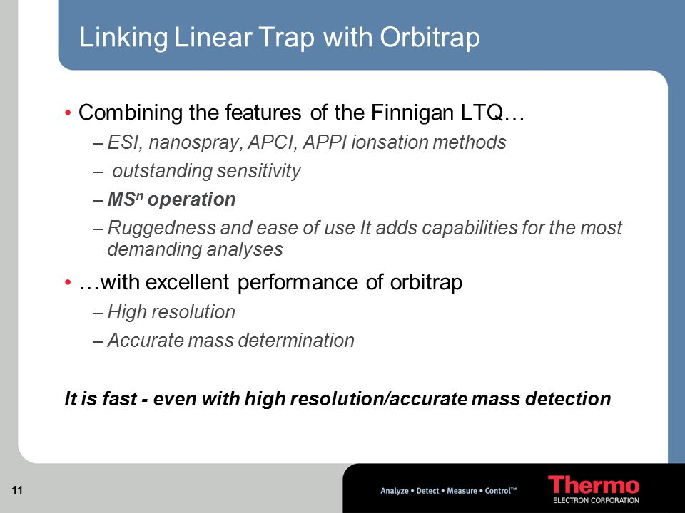 Linking Linear Trap with Orbitrap