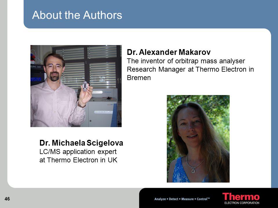 About the Authors Dr. Alexander Makarov Dr. Michaela Scigelova