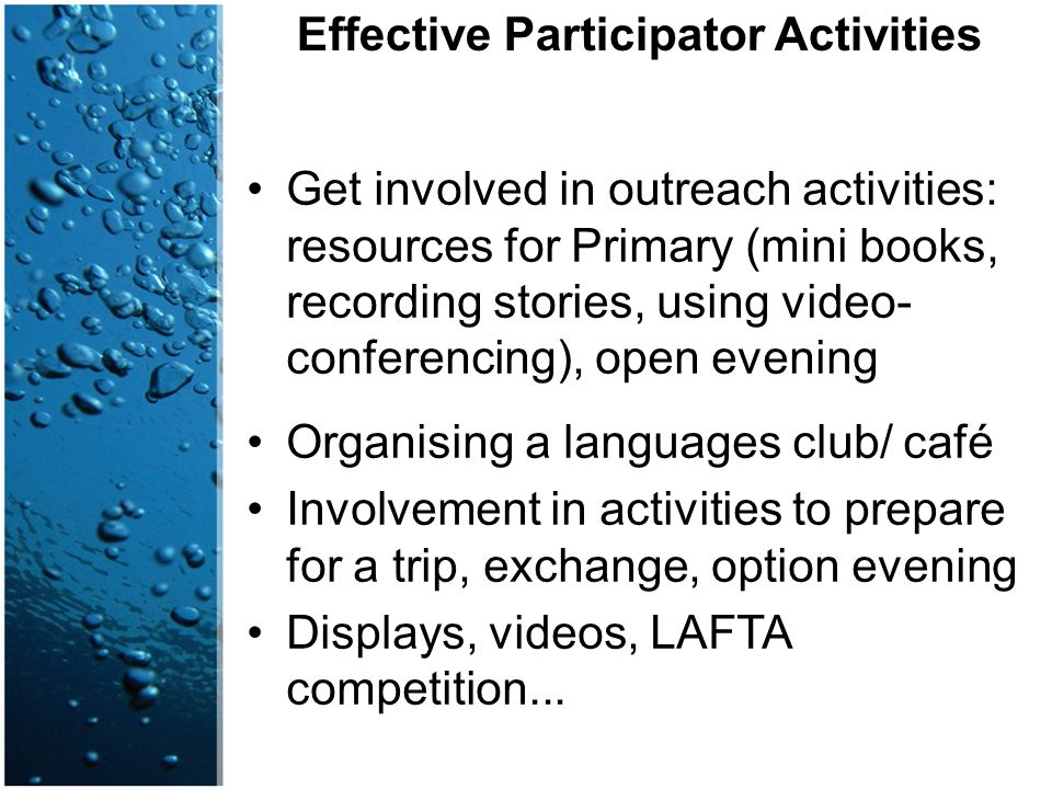 Effective Participator Activities