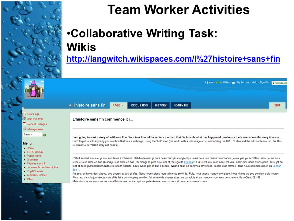 Team Worker Activities
