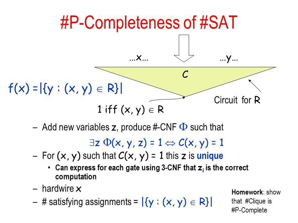 #P-Completeness of #SAT