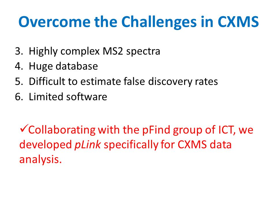 Overcome the Challenges in CXMS