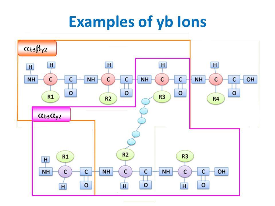 Examples of yb Ions b3y2 b3y2