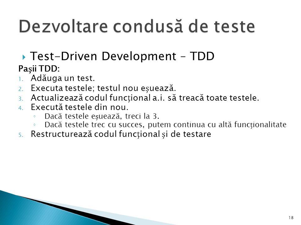 Dezvoltare condusă de teste