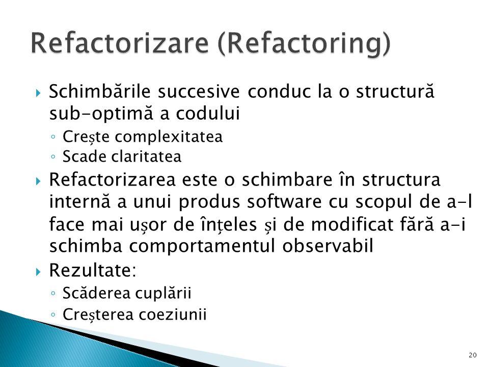 Refactorizare (Refactoring)