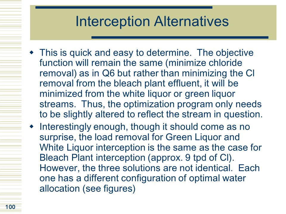 Interception Alternatives