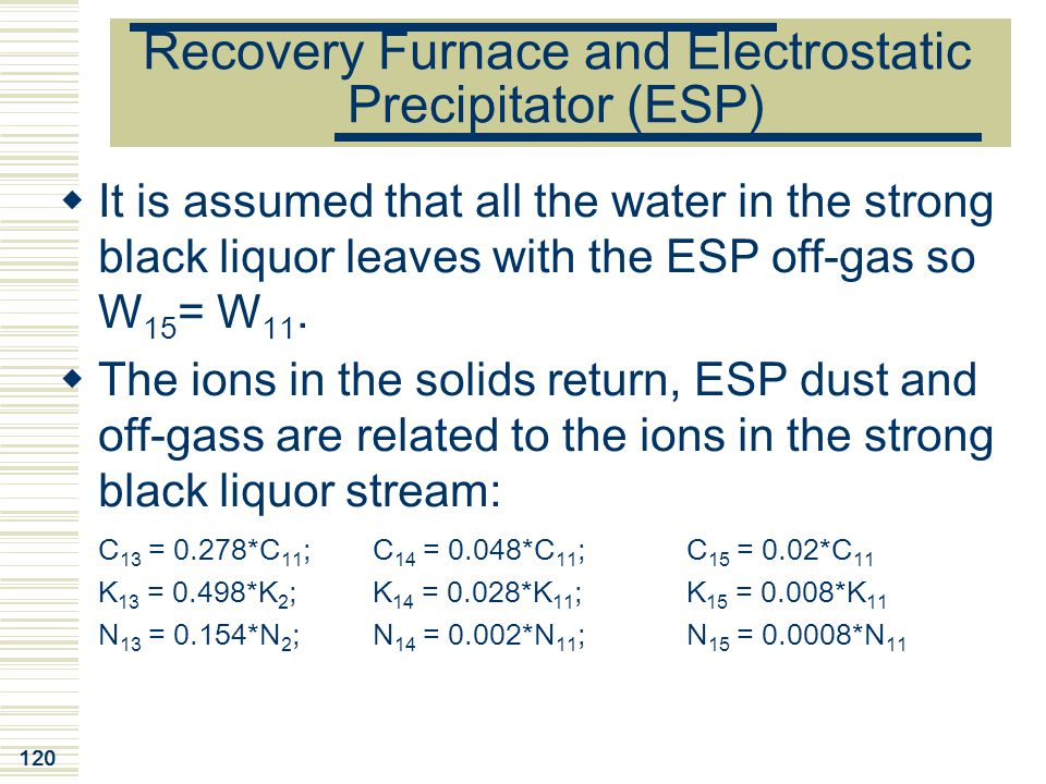Recovery Furnace and Electrostatic Precipitator (ESP)