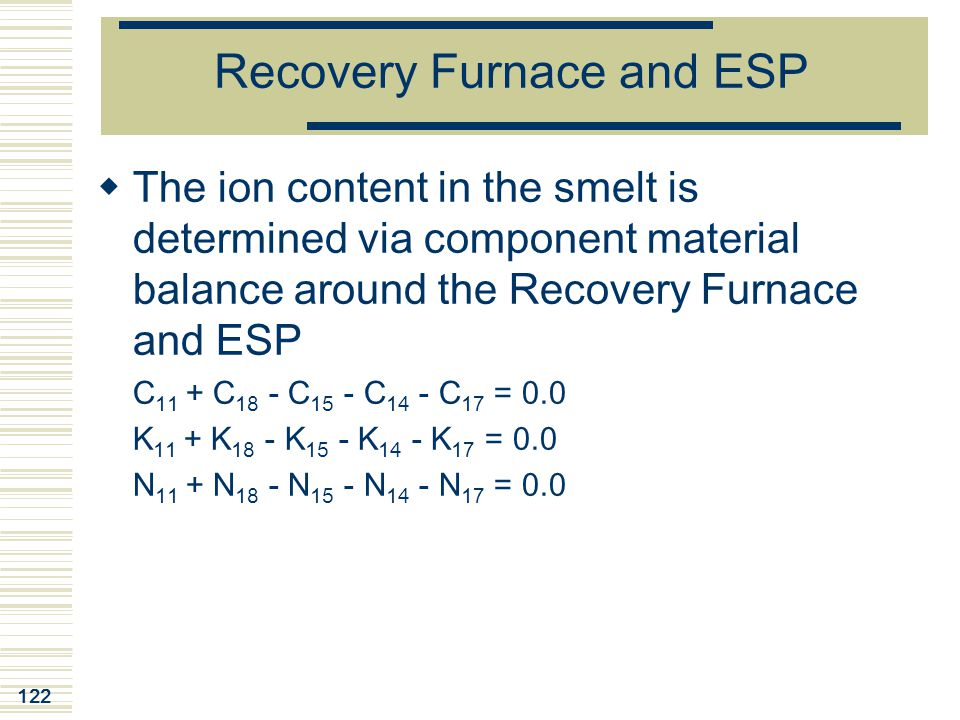 Recovery Furnace and ESP