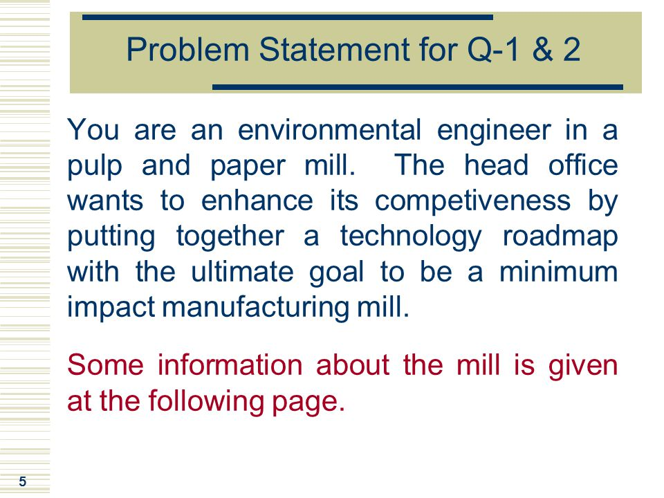 Problem Statement for Q-1 & 2