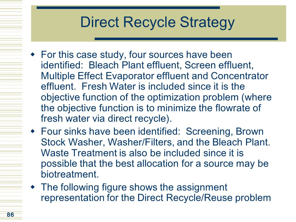 Direct Recycle Strategy