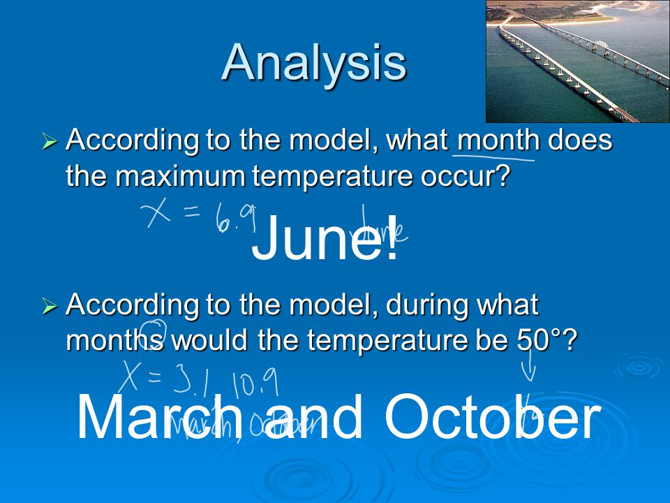 June! March and October Analysis