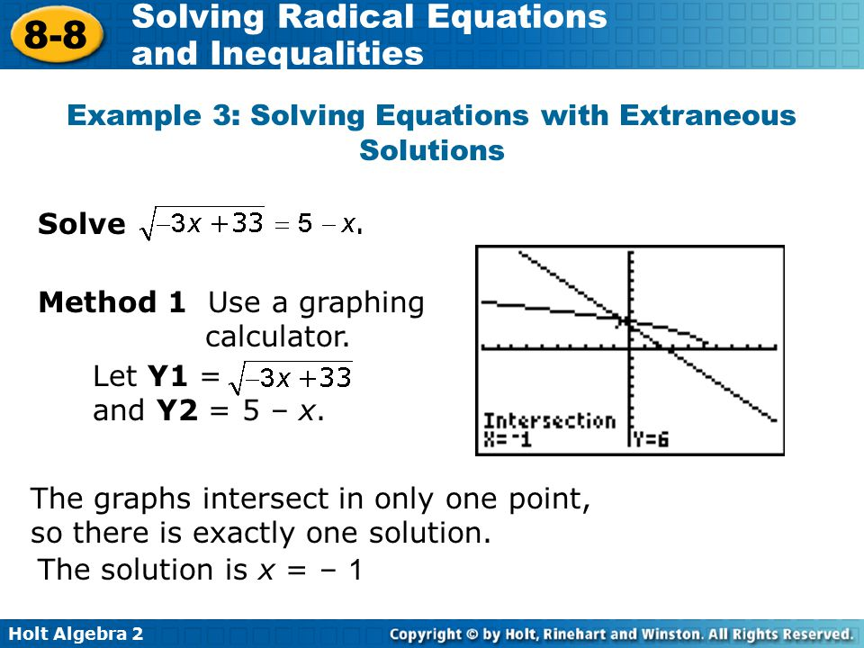 Example 3: Solving Equations with Extraneous Solutions