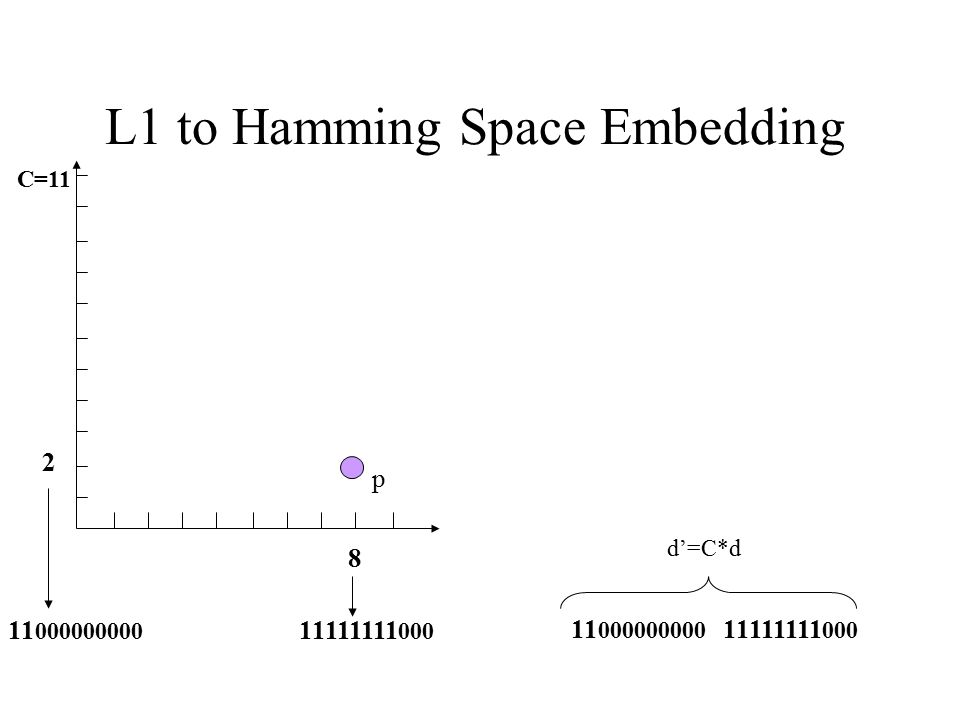 L1 to Hamming Space Embedding
