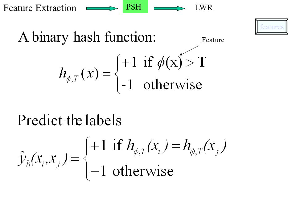 A binary hash function: