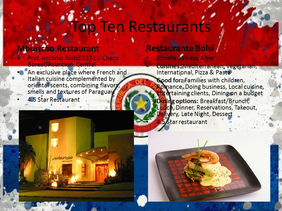 Top Ten Restaurants Restaurante Bolsi Mburicao Restaurant