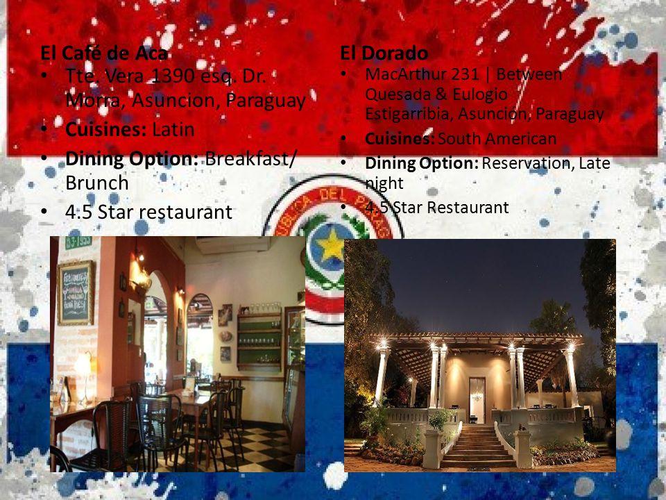 Tte. Vera 1390 esq. Dr. Morra, Asuncion, Paraguay Cuisines: Latin