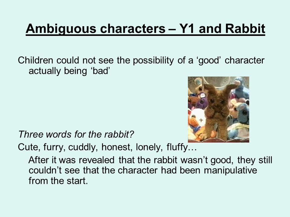 Ambiguous characters – Y1 and Rabbit