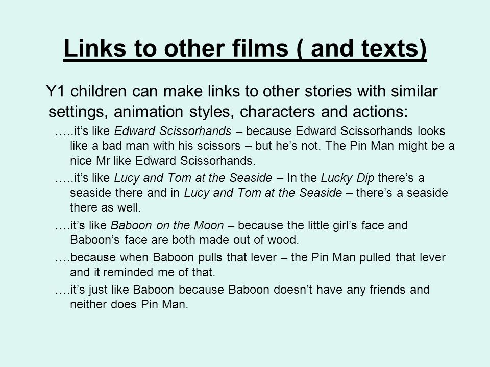 Links to other films ( and texts)