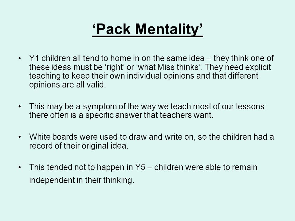 'Pack Mentality'