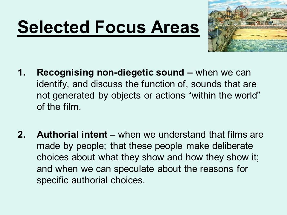 Selected Focus Areas