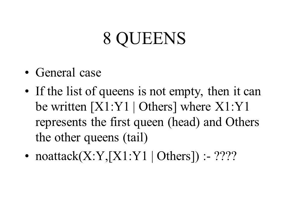 8 QUEENS General case.