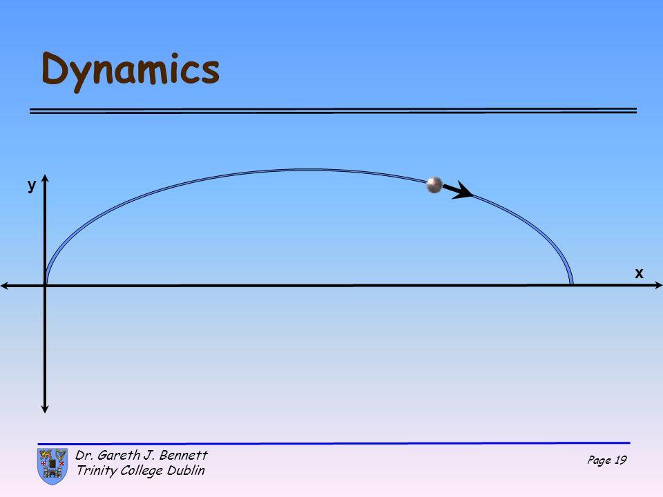 Dynamics y x Dr. Gareth J. Bennett Trinity College Dublin