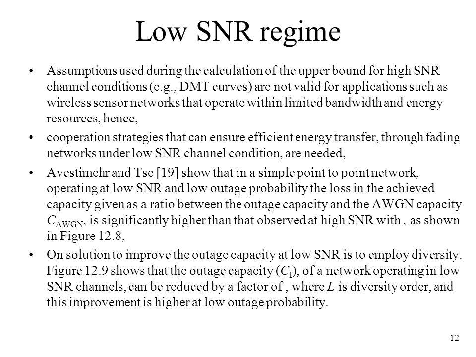 Low SNR regime