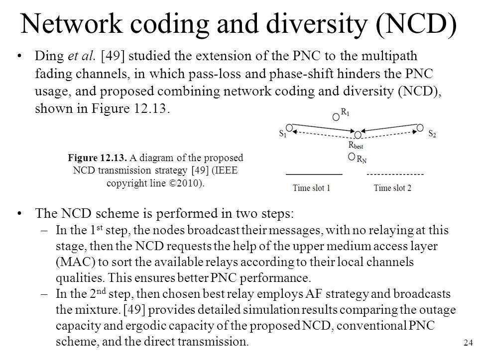 Network coding and diversity (NCD)