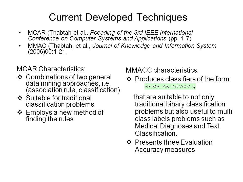 Current Developed Techniques