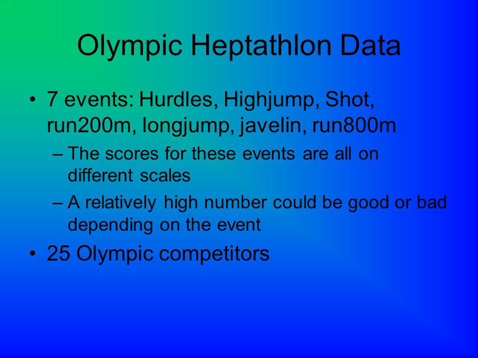 Olympic Heptathlon Data