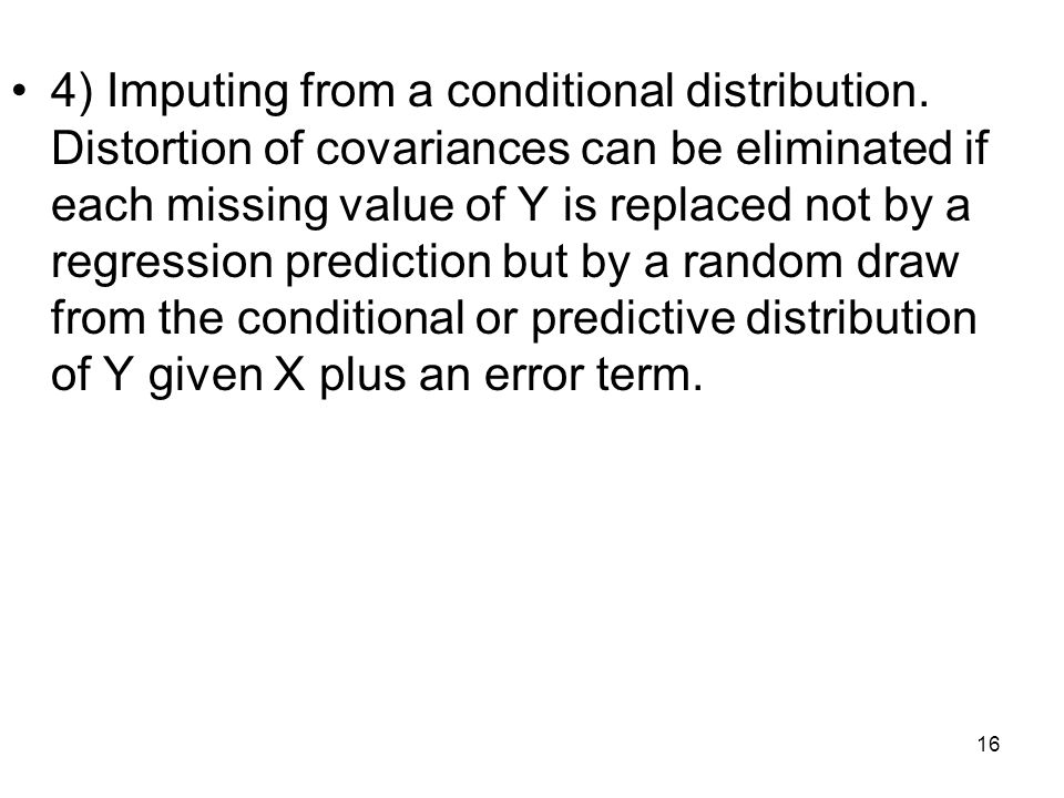 4) Imputing from a conditional distribution