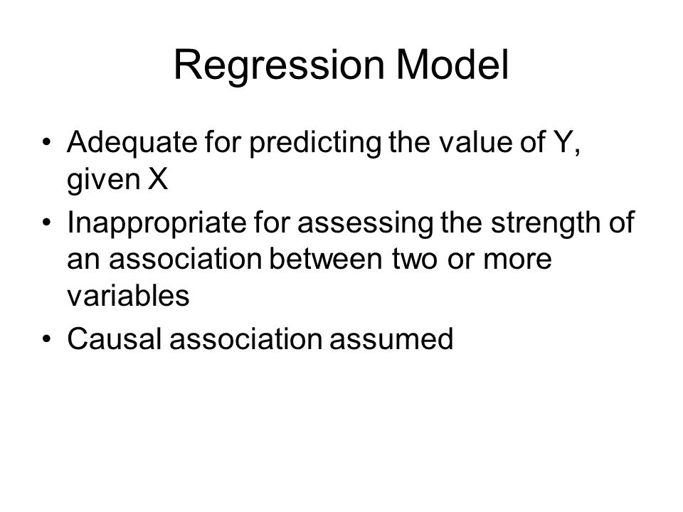 Regression Model Adequate for predicting the value of Y, given X