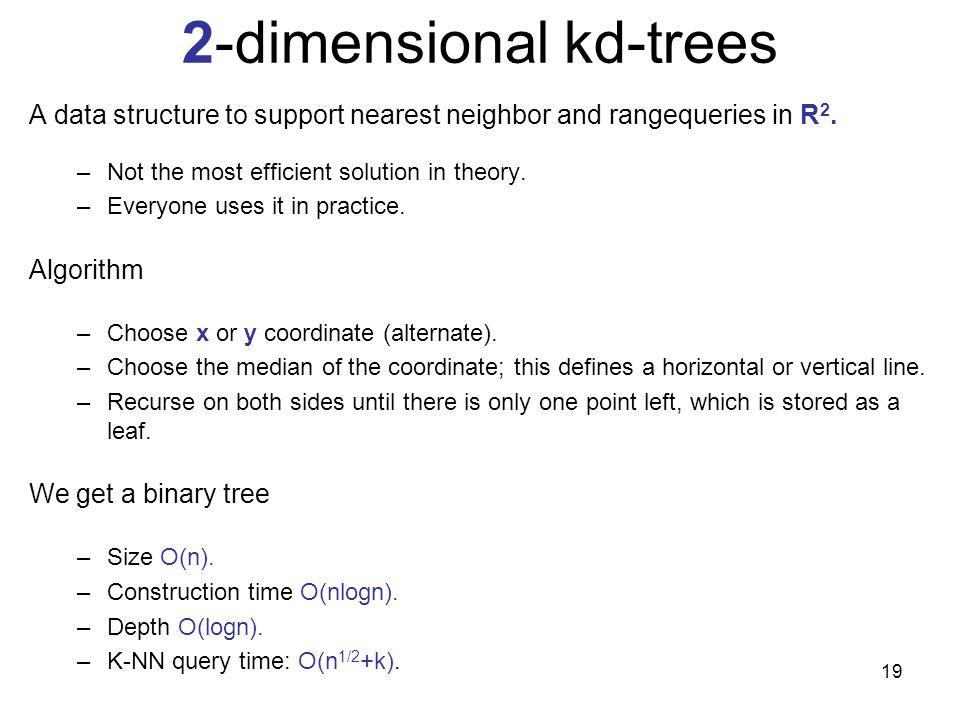 2-dimensional kd-trees