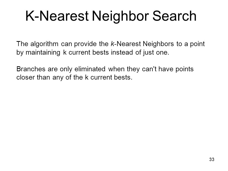 K-Nearest Neighbor Search