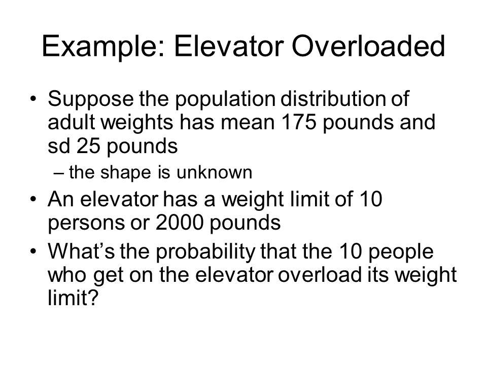 Example: Elevator Overloaded