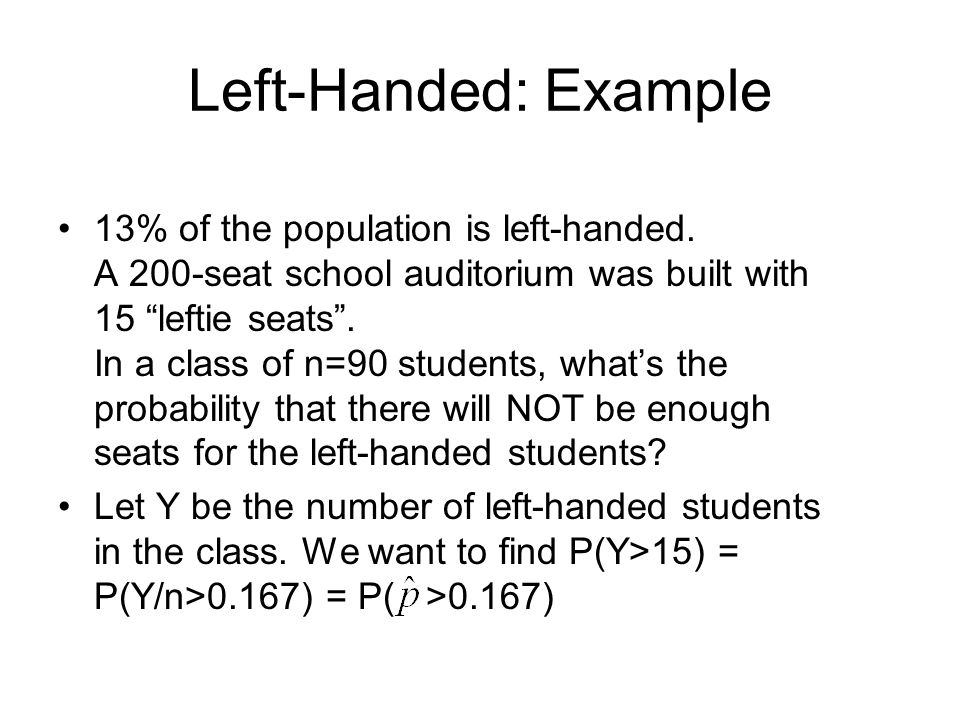 Left-Handed: Example