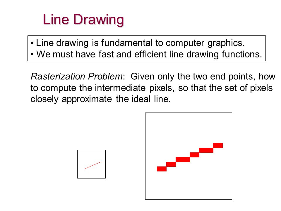 Line Drawing In Computer Graphics : Chapter d graphics algorithms ppt video online download