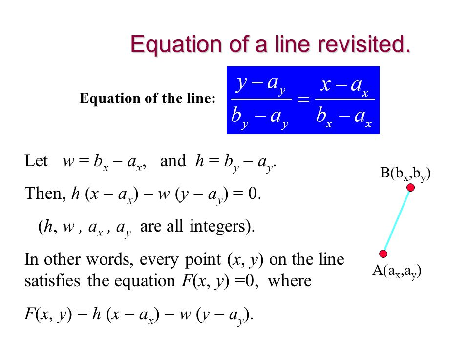 Equation of a line revisited.